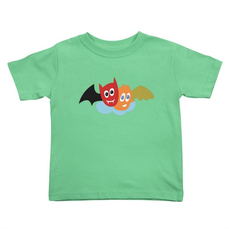 Devil & Angel Kids Toddler T-Shirt by Dicker Dandy