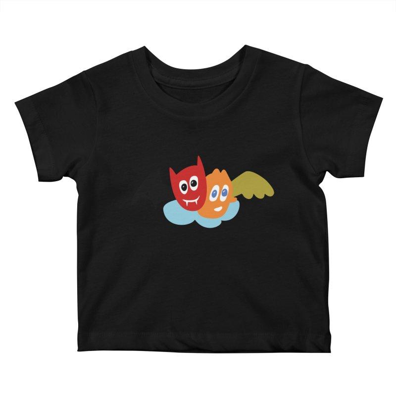 Devil & Angel Kids Baby T-Shirt by Dicker Dandy