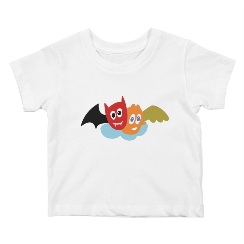 Devil & Angel Kids Baby T-Shirt by Dicker Dandy