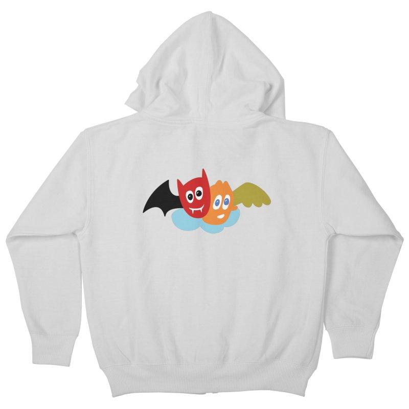 Devil & Angel Kids Zip-Up Hoody by Dicker Dandy