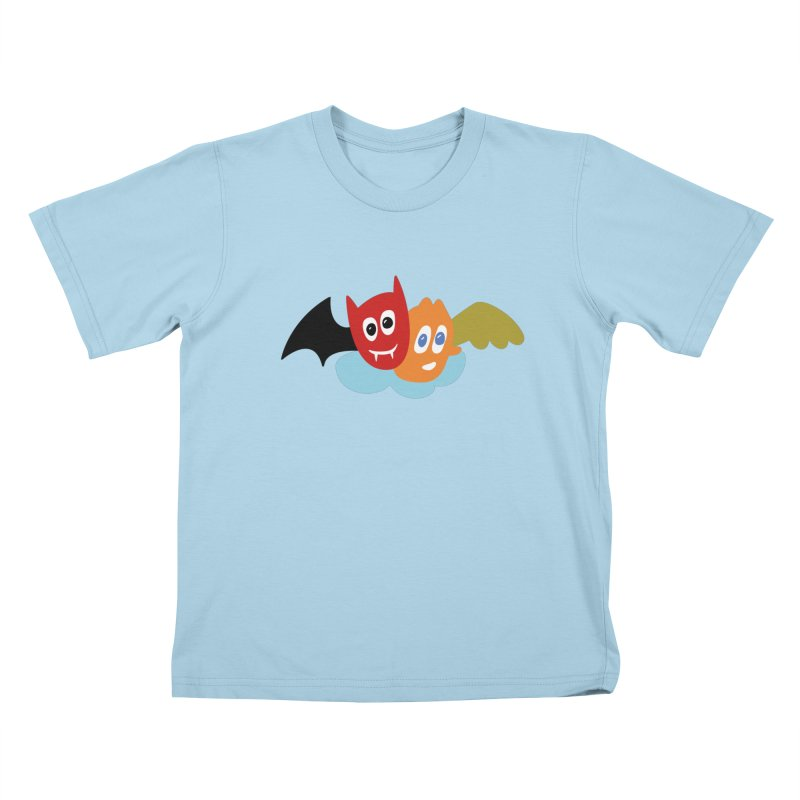 Devil & Angel Kids T-Shirt by Dicker Dandy