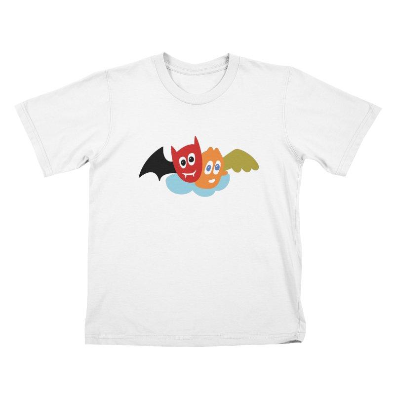 Devil & Angel Kids T-Shirt by Dicker Dandy