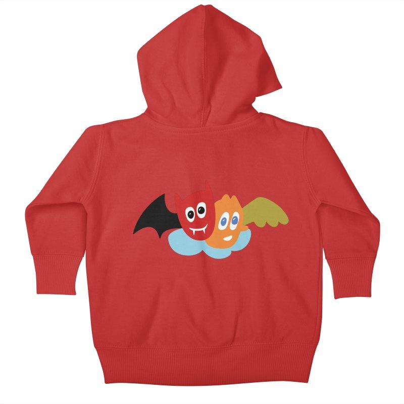 Devil & Angel Kids Baby Zip-Up Hoody by Dicker Dandy