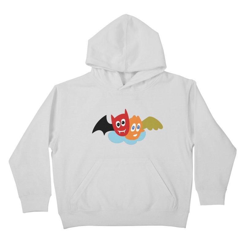 Devil & Angel Kids Pullover Hoody by Dicker Dandy