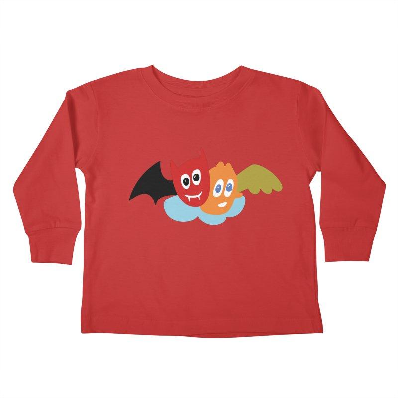 Devil & Angel Kids Toddler Longsleeve T-Shirt by Dicker Dandy