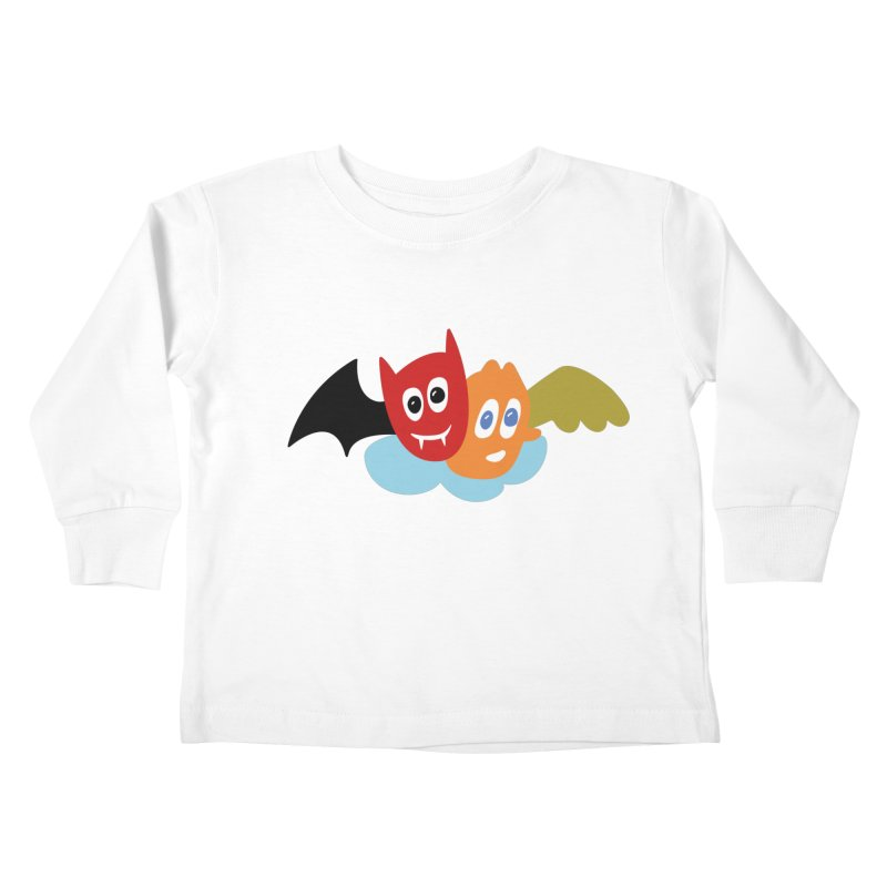 Devil & Angel Kids Toddler Longsleeve T-Shirt by Dicker Dandy