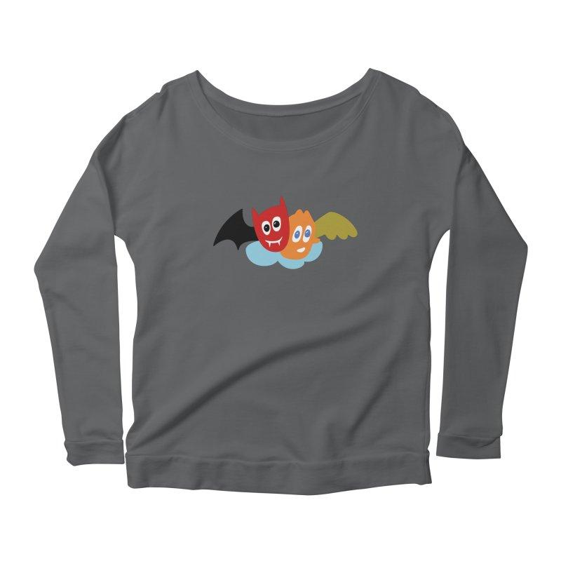 Devil & Angel Women's Scoop Neck Longsleeve T-Shirt by Dicker Dandy