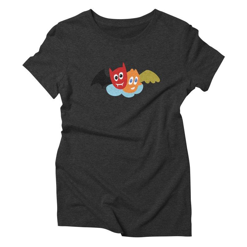Devil & Angel Women's Triblend T-Shirt by Dicker Dandy
