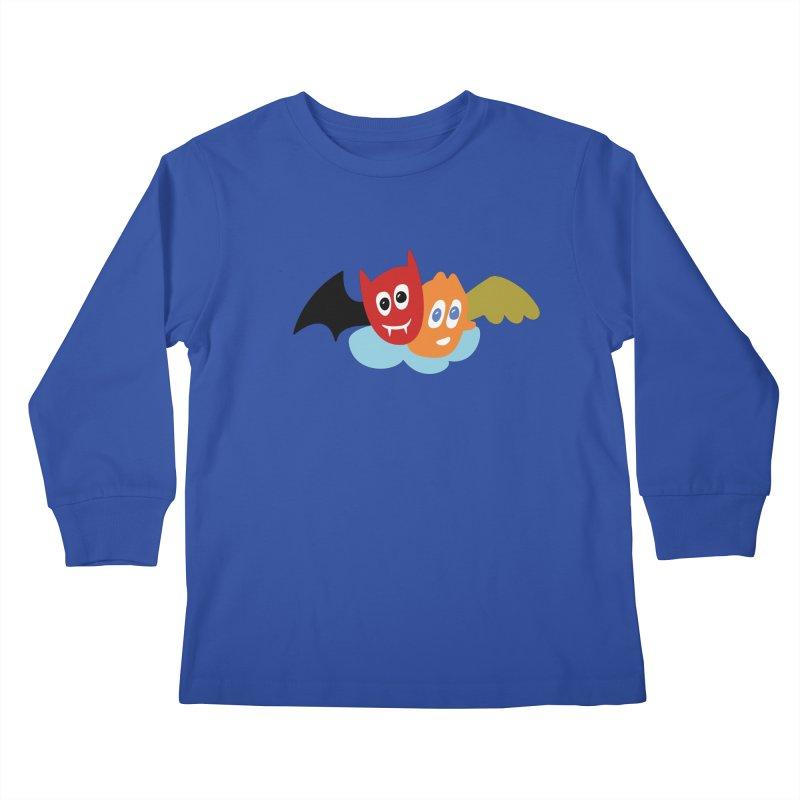 Devil & Angel Kids Longsleeve T-Shirt by Dicker Dandy
