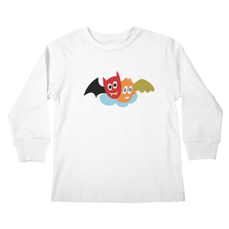 Devil & Angel Kids Longsleeve T-Shirt by Dicker Dandy