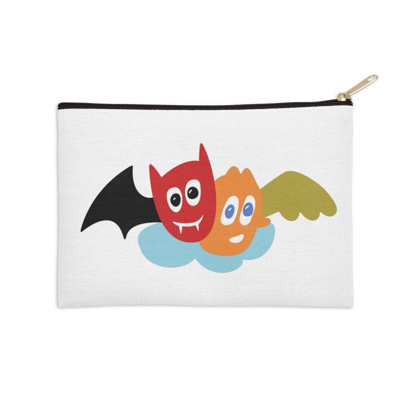 Devil & Angel Accessories Zip Pouch by Dicker Dandy