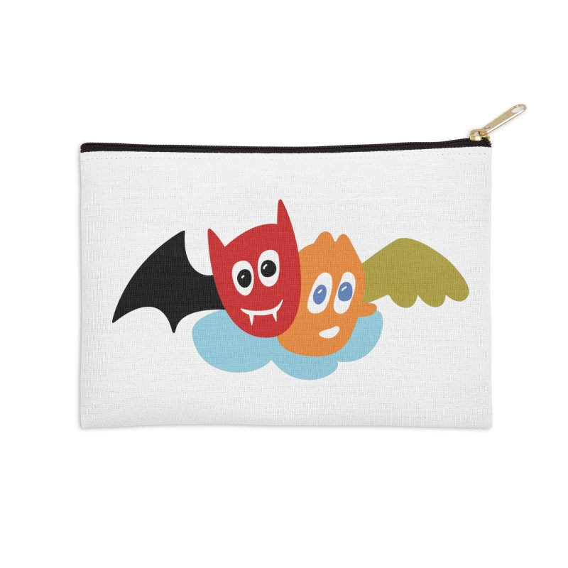 Devil & Angel Accessories Zip Pouch by Dicker Dandy