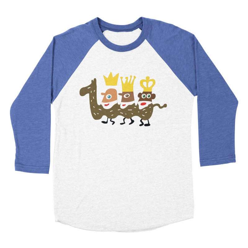 Holy Kings Men's Baseball Triblend Longsleeve T-Shirt by Dicker Dandy