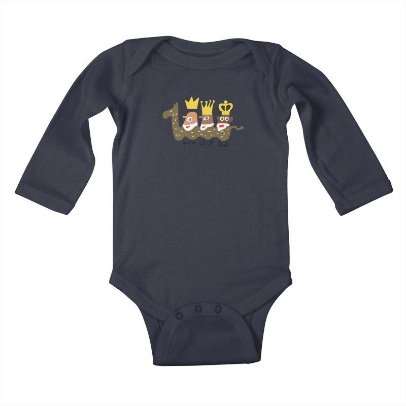 Holy Kings Kids Baby Longsleeve Bodysuit by Dicker Dandy