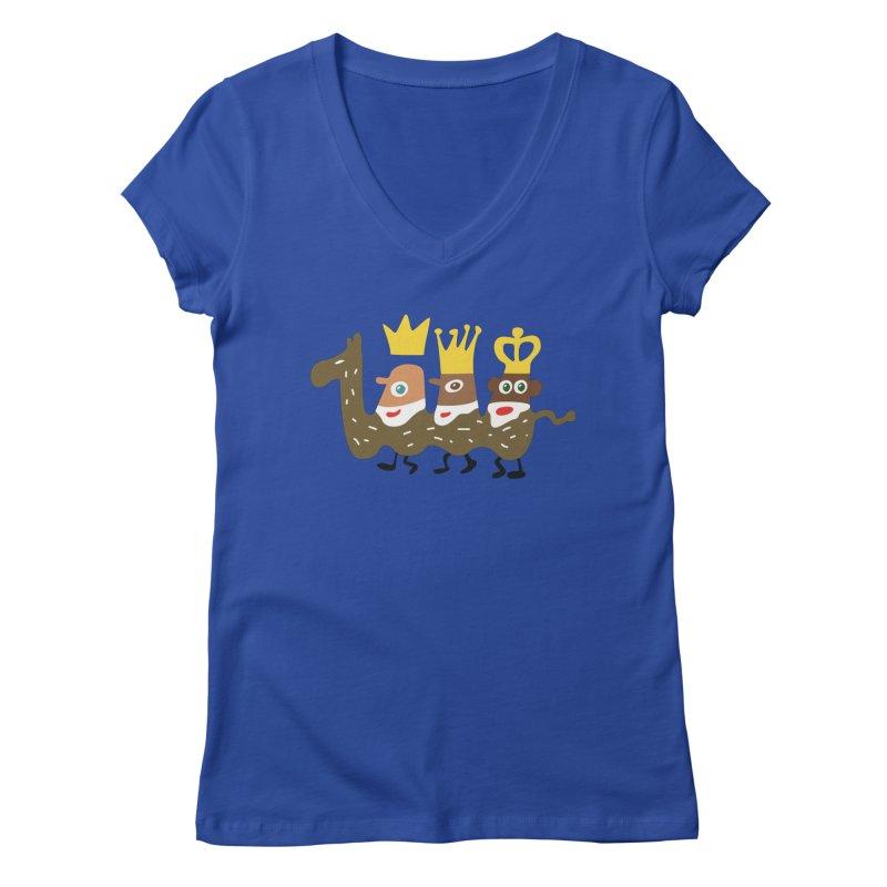 Holy Kings Women's V-Neck by Dicker Dandy