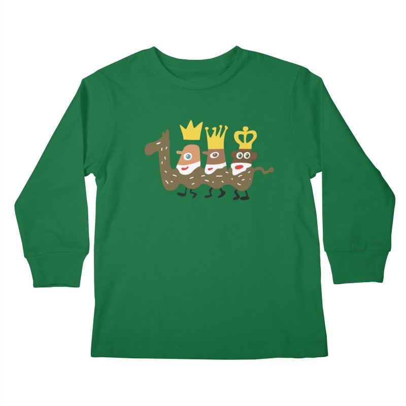Holy Kings Kids Longsleeve T-Shirt by Dicker Dandy
