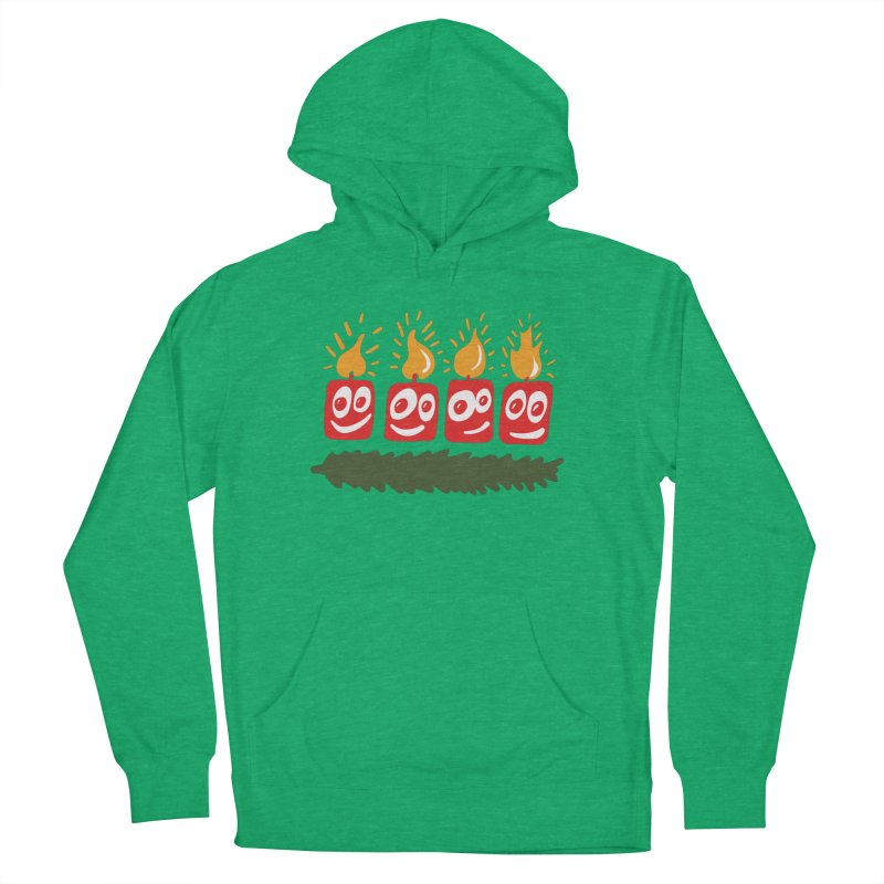 Candles Women's French Terry Pullover Hoody by Dicker Dandy