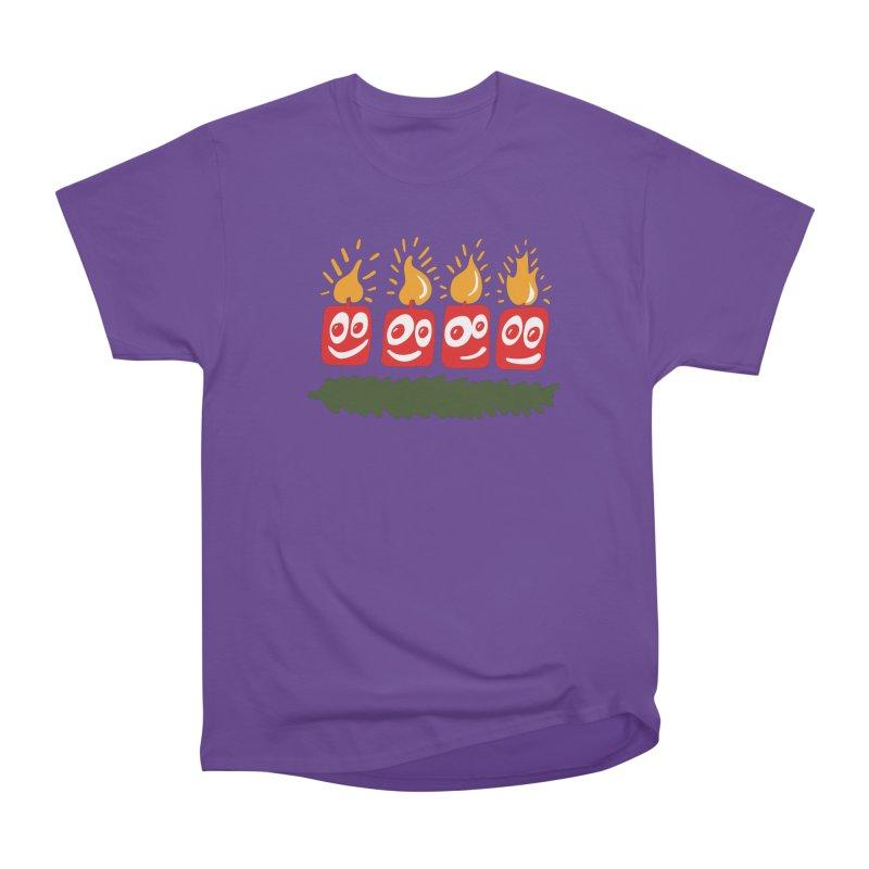 Candles Women's Heavyweight Unisex T-Shirt by Dicker Dandy