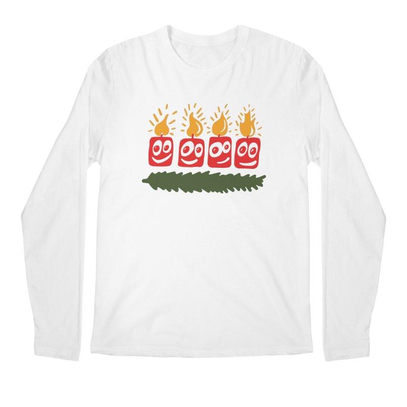 Candles Men's Regular Longsleeve T-Shirt by Dicker Dandy