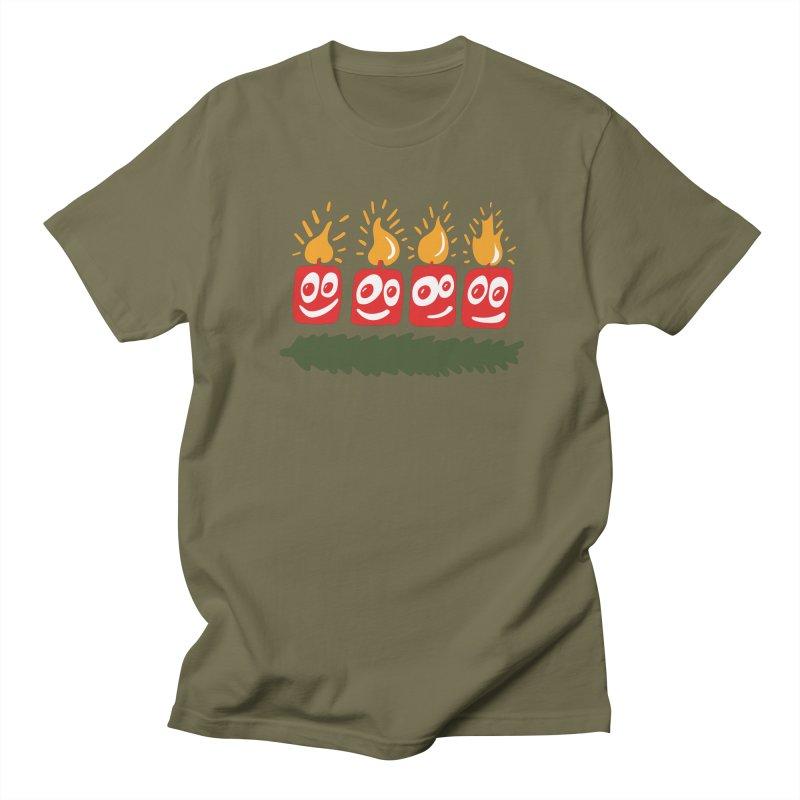 Candles Men's Regular T-Shirt by Dicker Dandy