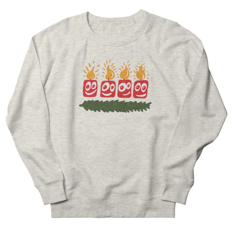Candles Women's French Terry Sweatshirt by Dicker Dandy