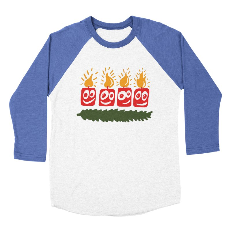 Candles Women's Baseball Triblend Longsleeve T-Shirt by Dicker Dandy