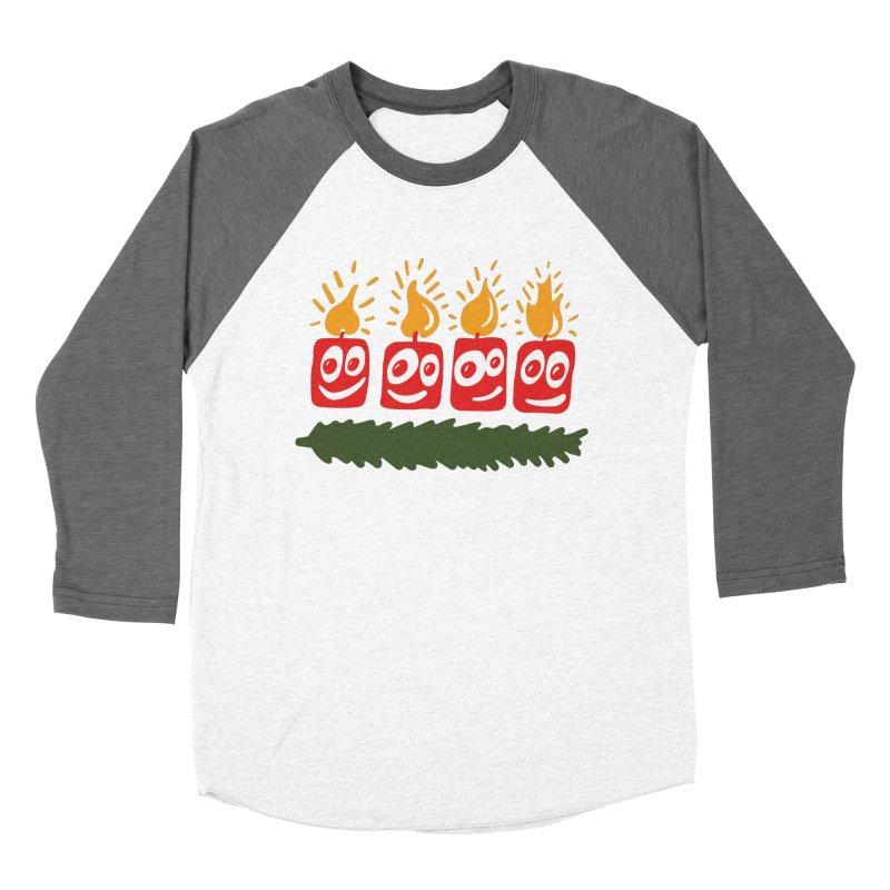 Candles Men's Baseball Triblend T-Shirt by Dicker Dandy
