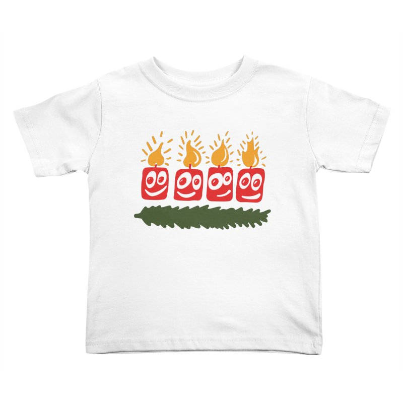 Candles Kids Toddler T-Shirt by Dicker Dandy