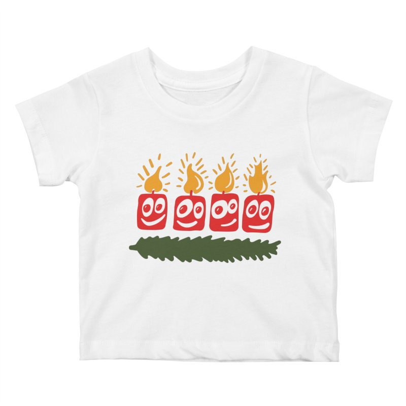 Candles Kids Baby T-Shirt by Dicker Dandy