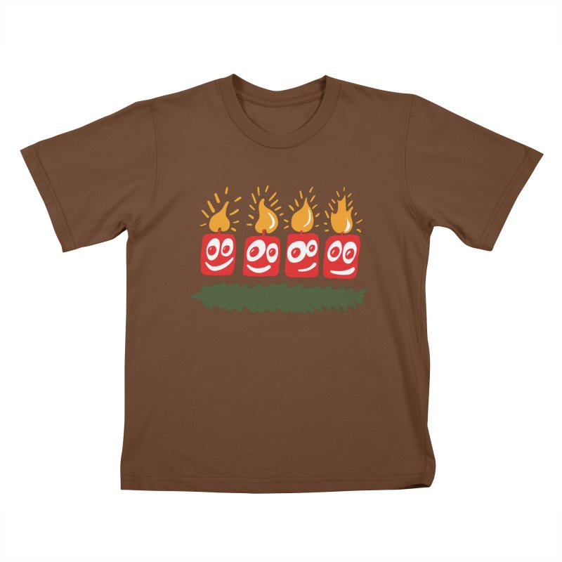 Candles Kids T-Shirt by Dicker Dandy