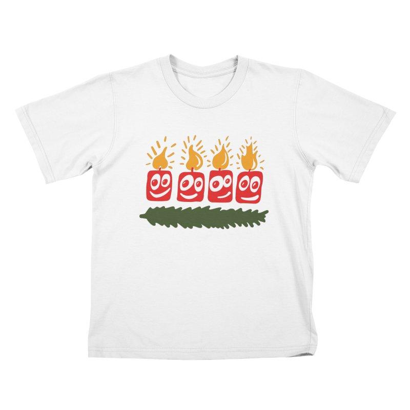 Candles Kids T-Shirt by Dicker Dandy