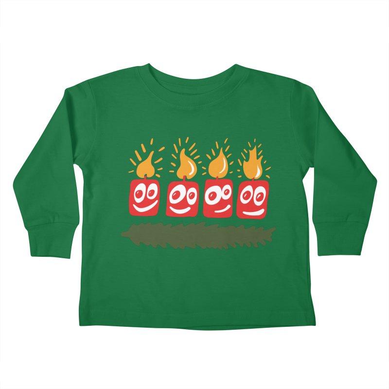 Candles Kids Toddler Longsleeve T-Shirt by Dicker Dandy