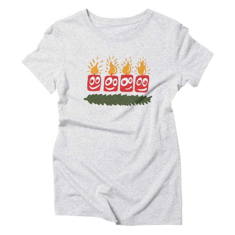 Candles Women's T-Shirt by Dicker Dandy