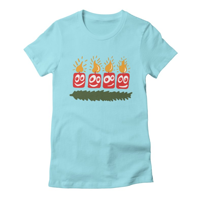 Candles Women's Fitted T-Shirt by Dicker Dandy