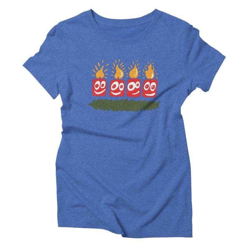 Candles Women's Triblend T-Shirt by Dicker Dandy
