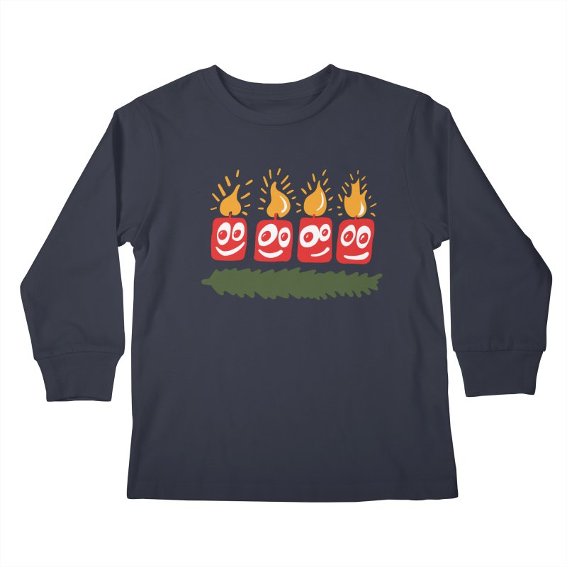 Candles Kids Longsleeve T-Shirt by Dicker Dandy