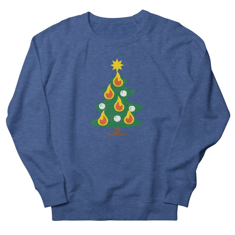 Burning Christmas Tree Men's Sweatshirt by Dicker Dandy