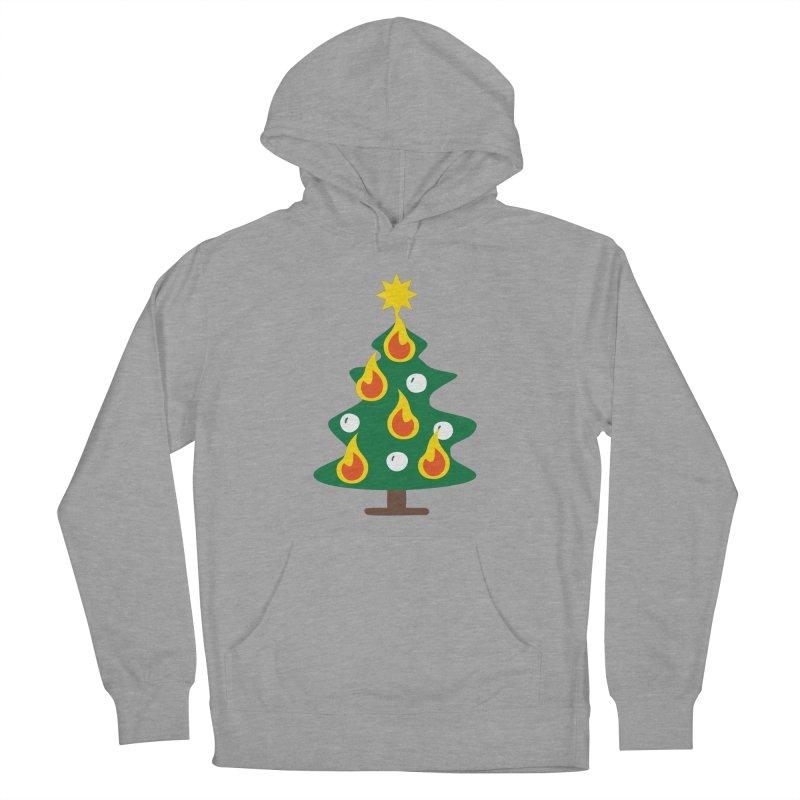 Burning Christmas Tree Women's Pullover Hoody by Dicker Dandy