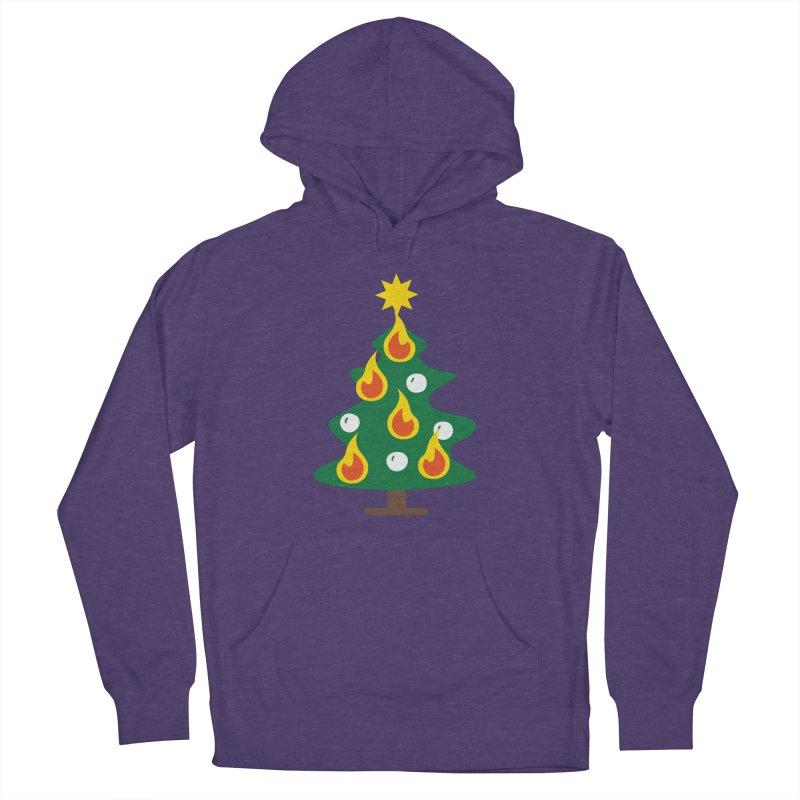 Burning Christmas Tree Men's Pullover Hoody by Dicker Dandy