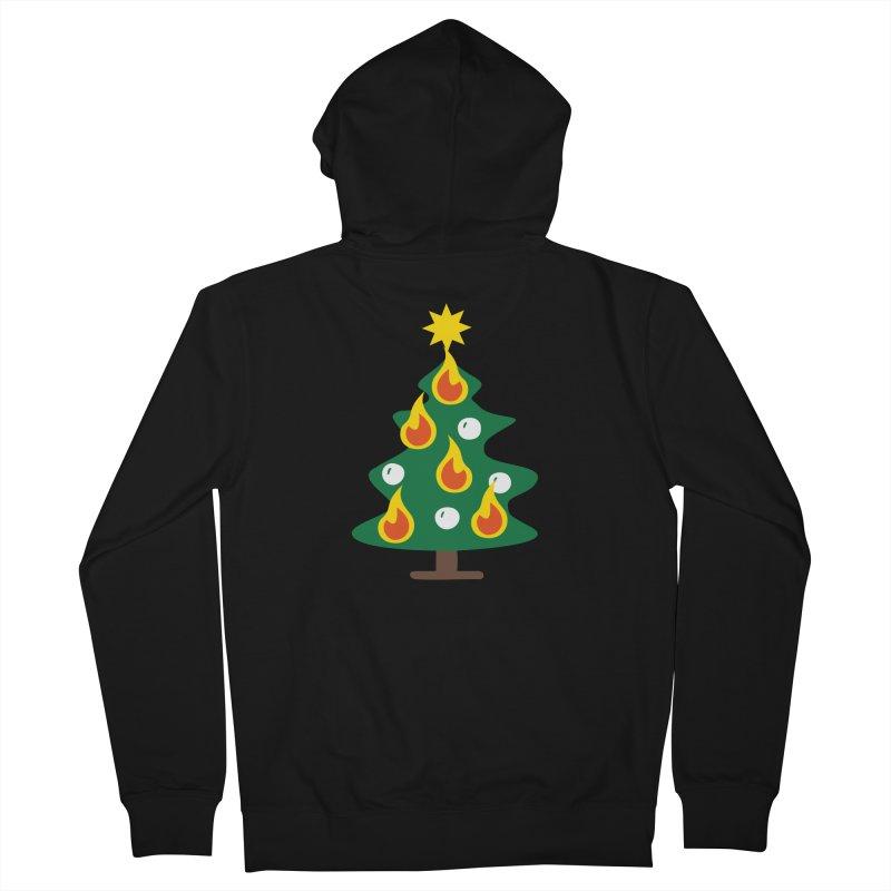 Burning Christmas Tree Women's Zip-Up Hoody by Dicker Dandy
