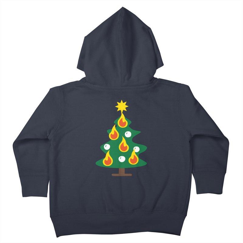 Burning Christmas Tree Kids Toddler Zip-Up Hoody by Dicker Dandy