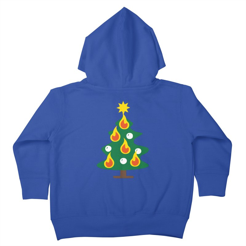 Burning Christmas Tree Kids Toddler Zip-Up Hoody by Dicker Dandy