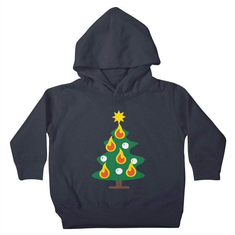 Burning Christmas Tree Kids Toddler Pullover Hoody by Dicker Dandy