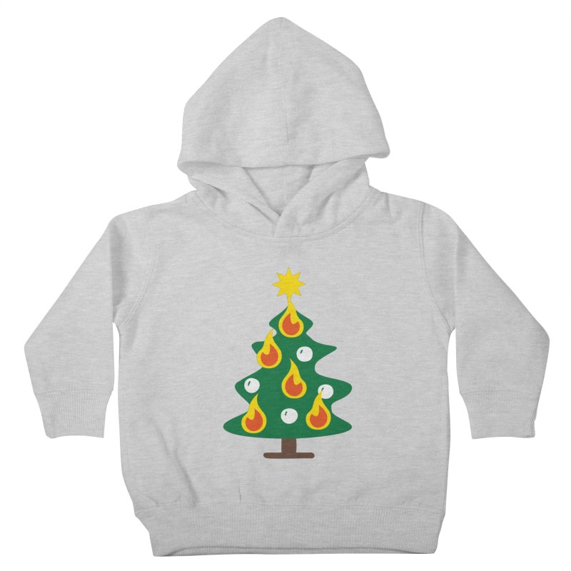 Burning Christmas Tree Kids Toddler Pullover Hoody by Dicker Dandy