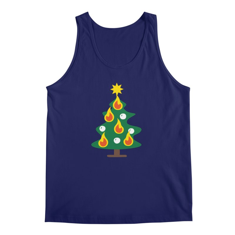 Burning Christmas Tree Men's Tank by Dicker Dandy