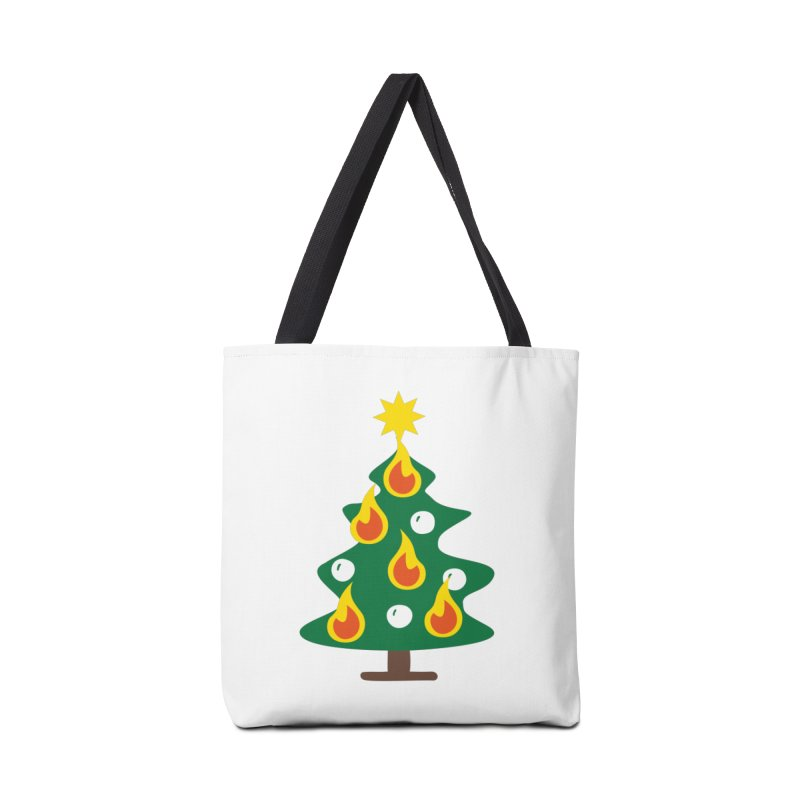 Burning Christmas Tree Accessories Bag by Dicker Dandy