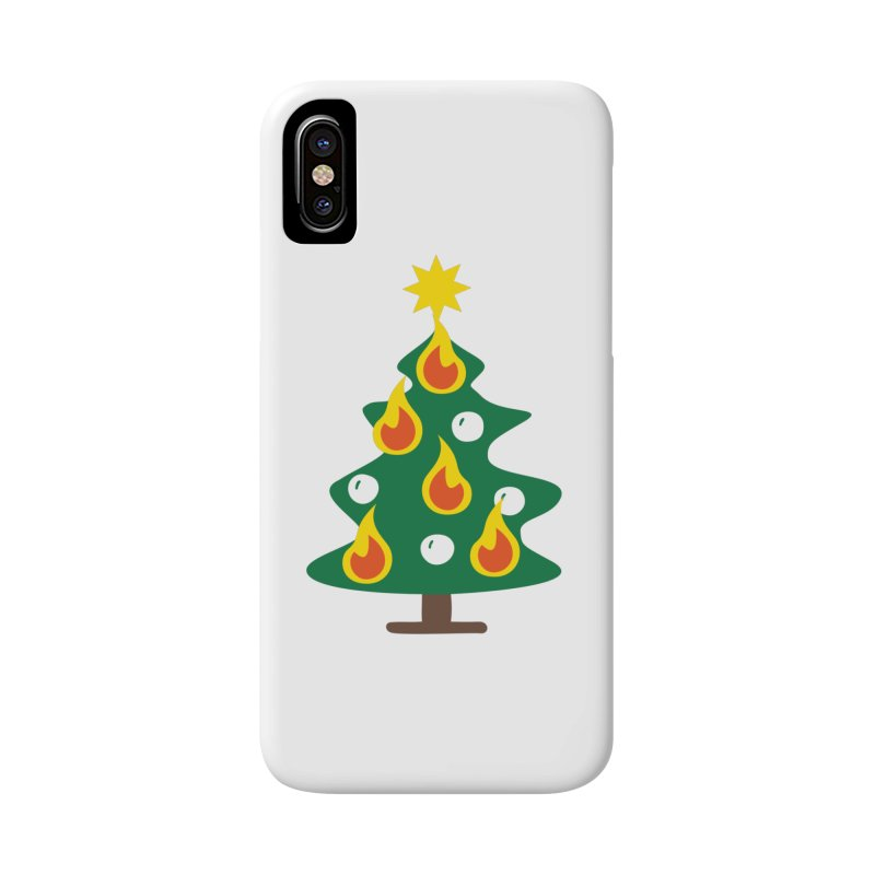 Burning Christmas Tree Accessories Phone Case by Dicker Dandy