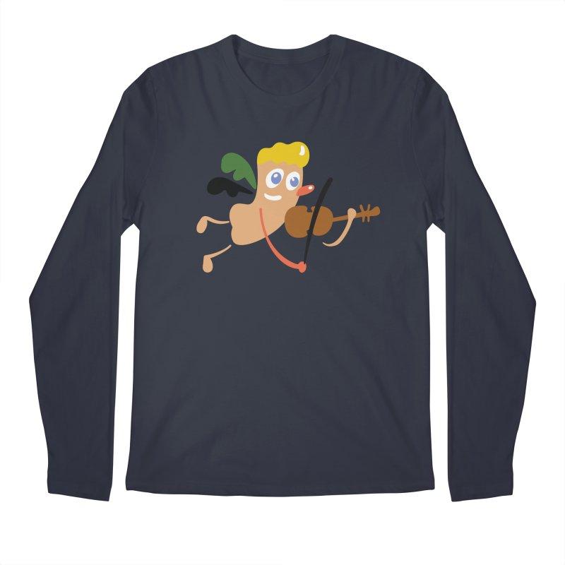 Little Angel Men's Longsleeve T-Shirt by Dicker Dandy
