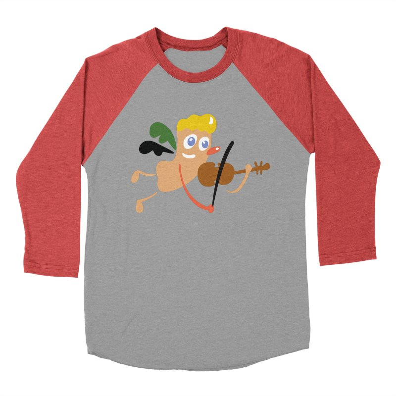 Little Angel Women's Baseball Triblend T-Shirt by Dicker Dandy