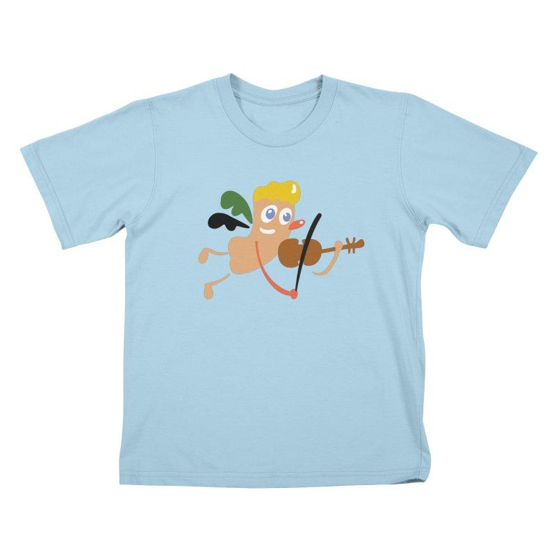 Little Angel Kids T-Shirt by Dicker Dandy